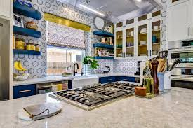 wall tiles for white kitchen cabinets modern kitchen with black and white wall tile and blue