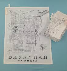 Savannah Ga Map Savannah Tea Towel 14 00 Via Etsy Travel Pinterest