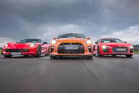 nissan gtr vs corvette z06 comparativa audi r8 v10 plus vs corvette z06 y nissan gt r