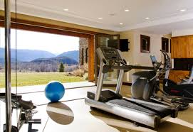 a beautiful view in your home gym is very inspiring inspiring