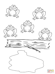 five little speckled frogs coloring page free printable coloring