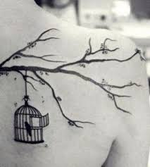 tree branch and birds tattoomagz