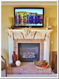how to decorate a thanksgiving mantel around your tv sand