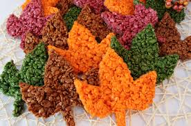 fall leaves rice krispie treats two