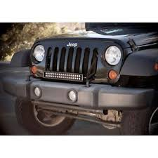 jeep jk hood led light bar kc hilites 368 single 20 led grill mount light bar kit for jeep