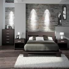 A Simple And Modern Bedroom Set In Espresso Brown It U0027s Made With