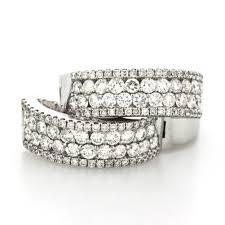 cheap diamond earrings 1 50 cts 14k white gold small diamond hoop earrings cheap diamond