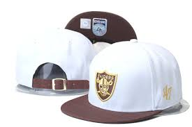 oakland raiders snapback hats caps 47brand strapback caps white