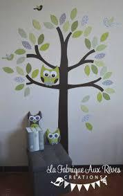 hibou chambre bébé beau stickers hibou chambre bebe avec stickers arbre vert anis
