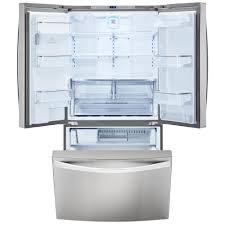 Stainless Steel Refrigerator French Door Bottom Freezer - kenmore elite 74023 29 8 cu ft french door bottom freezer