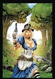 nov162067 gft steampunk alice in wonderland coloring book ed