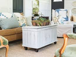 Old Wooden Coffee Tables by Add Casters To An Antique Trunk For A Mobile Coffee Table Hgtv