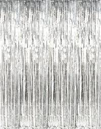 Silver Foil Curtains Metallic Silver Foil Fringe Curtains Door Window Curtain