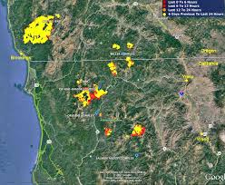 a map of oregon fires wildfire activity continues in northwest california and southwest