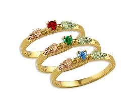 black gold mothers ring black gold mothers ring with birthstones stackable black