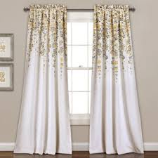Yellow And Grey Curtain Panels Buy Yellow Grey Curtain Panel From Bed Bath Beyond