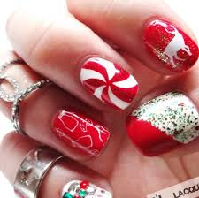 26 christmas nail designs with rhinestones fashion in pix
