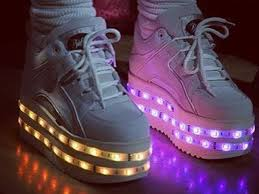 ladies light up shoes womens ladies ashish x topshop buffalo led light up sneakers