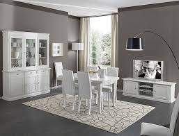 sala da pranzo sala da pranzo con porta tv bianco opaco