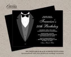 black tie wedding invitations black tie invitation etsy