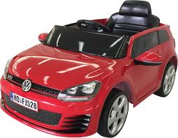 volkswagen red vw golf gti licensed 12v electric ride on car red