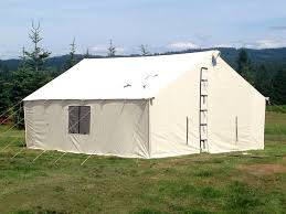 Permanent Tent Cabins Best Wall Tent To Set