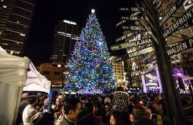 plin media city lights tree with songs ceremony