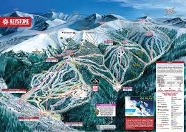Colorado Ski Resort Map by Keystone Ski Resort