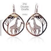 giraffe earrings large giraffe earrings bryde nature jewelry designs