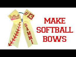 softball hair bows easy softball bow decal placement and folding template mat
