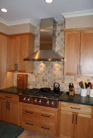 stainless steel backsplash behind stove only