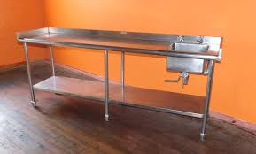 stainless steel prep table with sink tommy s restaurant equipment weissport pa 90 x 24 heavy