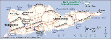 st croix caribbean map map of st croix islands major tourist