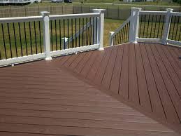 trex composite decking vinyl rail system ideas also wood deck with