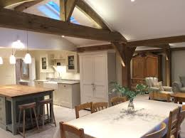 Kitchen Island With Table Extension by Carpenter Oak Extension Oak Framed House Open Plan Living