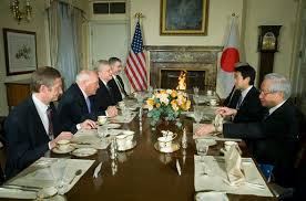 Cabinet President Vice President Cheney Holds A Breakfast Meeting With Japanese