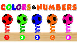 learn colors u0026 numbers for children with soccer balls color