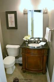 Powder Room Makeovers Photos - powder room makeover with faux grass cloth 100things2do