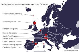 europe has plenty of secessionist movements like catalonia most