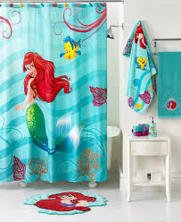bathroom simple bright blue line pattern decoration in kids