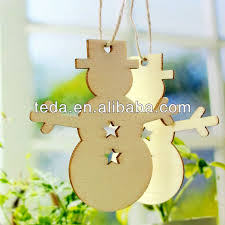 laser cut poplar plywood snowman hanging decorations for chrismas