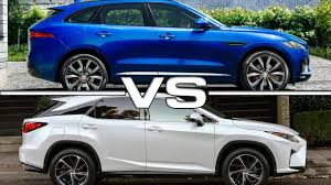 lexus engine vs bmw engine 2017 jaguar f pace vs 2016 lexus rx350 youtube