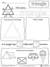 all about triangle shapes printable worksheets color pictures