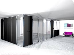 porte de bureau vitr types de configuration en vue 3d espace cloisons alu ile de