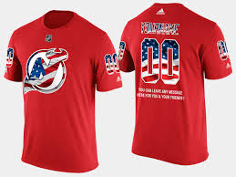 New Jersy Flag New Jersey Devils Custom Banner Wave Usa Flag Red T Shirt
