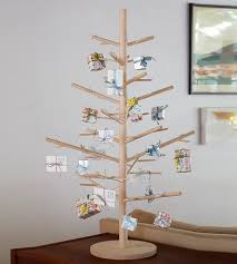 wood christmas tree 3 u0027 seedling features happy holidays