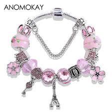 bracelet charm pandora images Buy new styling tower crown flower heart key jpg