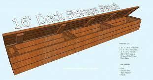 impressive deck bench storage deck bench plans storage box