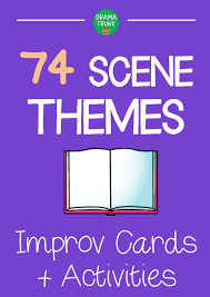 themes drama cards with suggested improvisation activities to