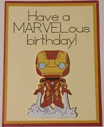 iron man birthday card derlaine avengers greeting card happy